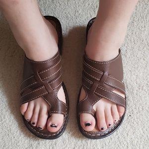 EUC, BOC Born Brown Leather Sandles, 9M